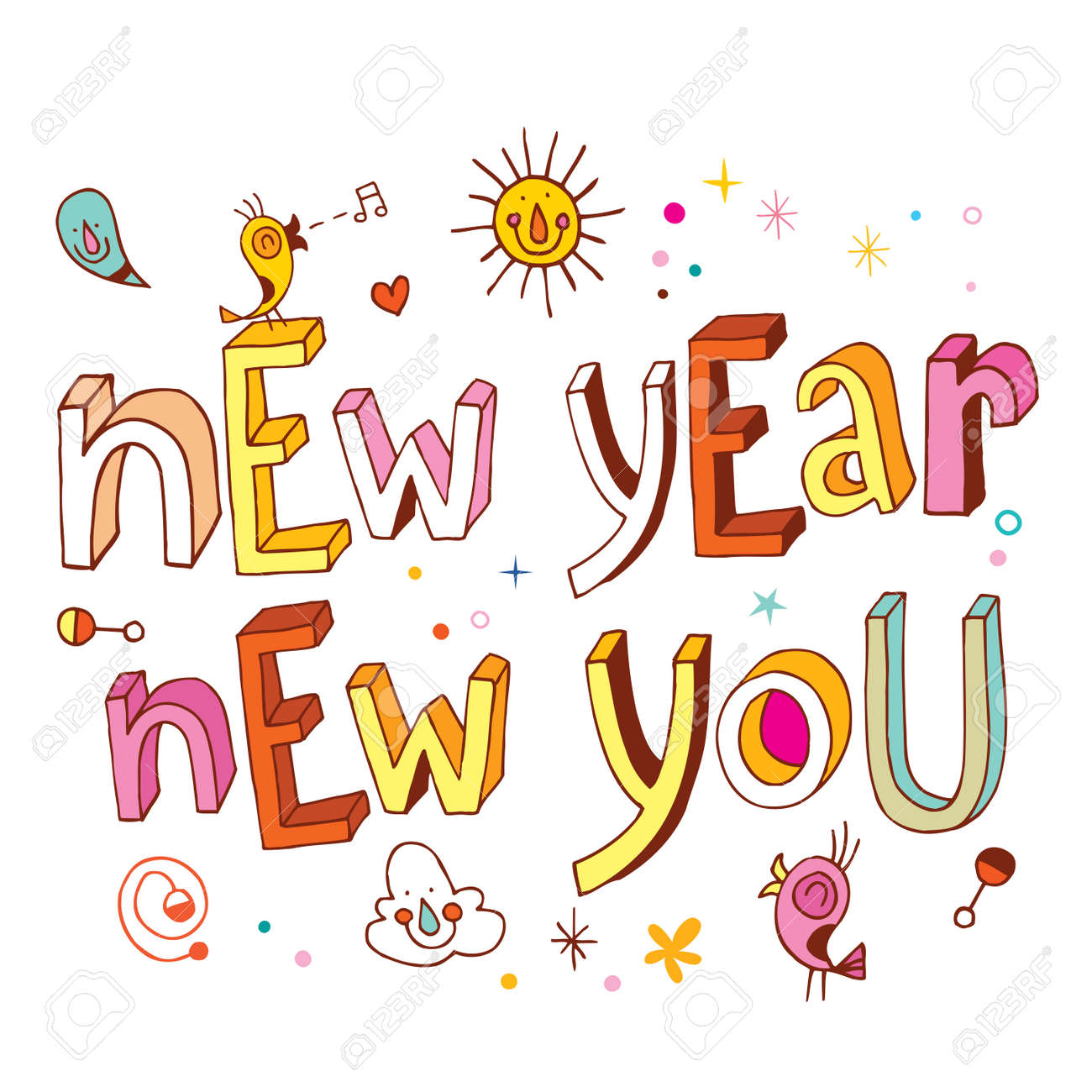 hight resolution of new year new you stock vector 54765899