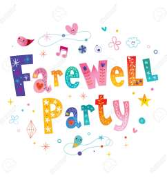 farewell party decorative lettering stock vector 96432490 [ 1300 x 1300 Pixel ]