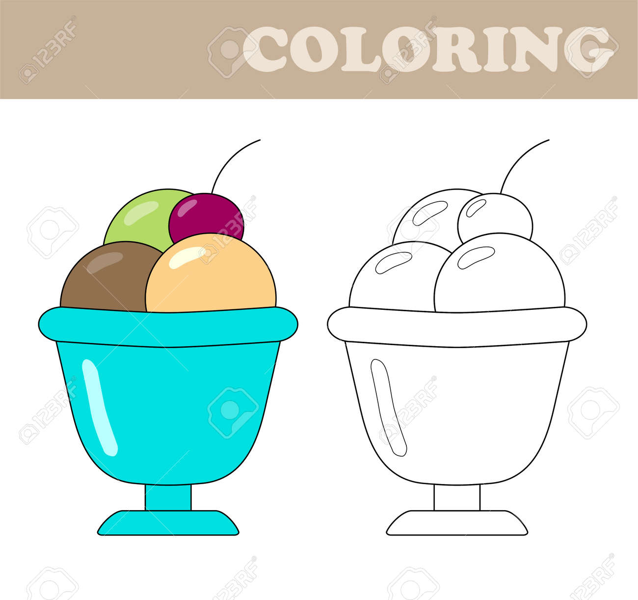 coloring page with ice