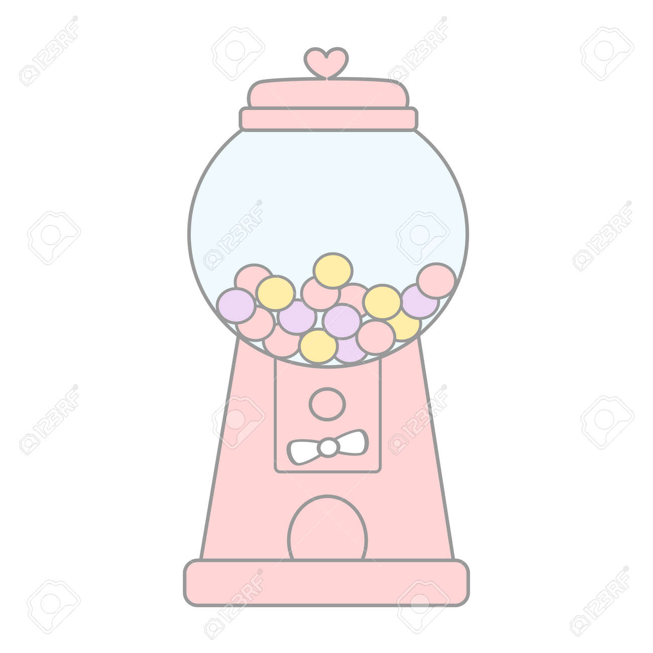 hight resolution of cartoon cute pink gumball machine vector illustration isolated on white background stock vector 70446070