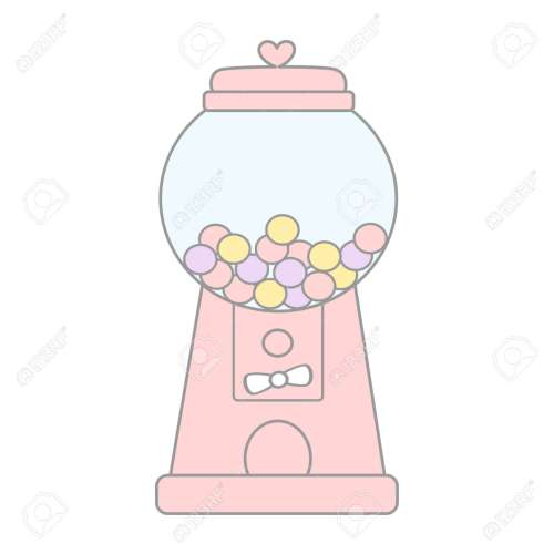 small resolution of cartoon cute pink gumball machine vector illustration isolated on white background stock vector 70446070