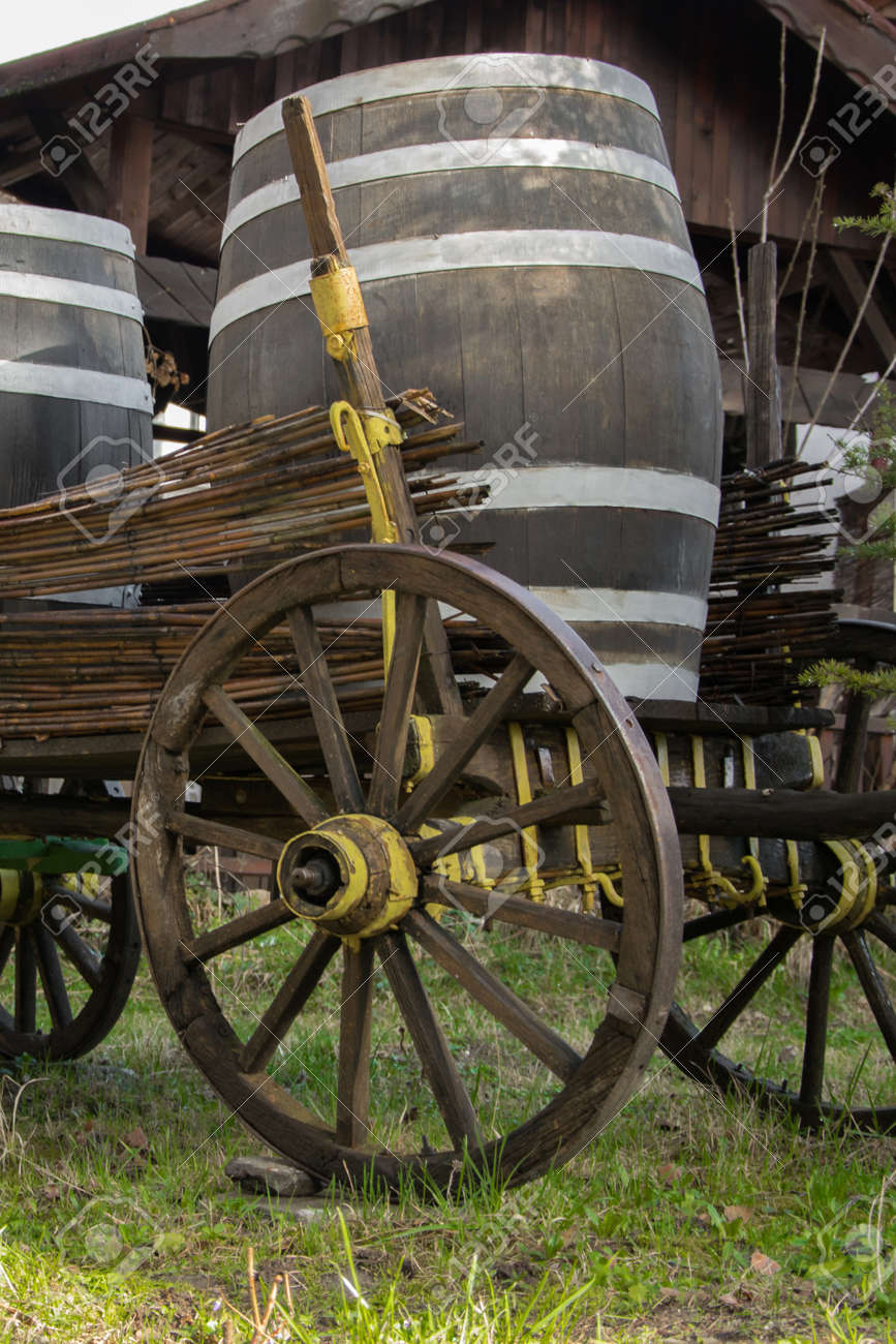 antique cart for transporting