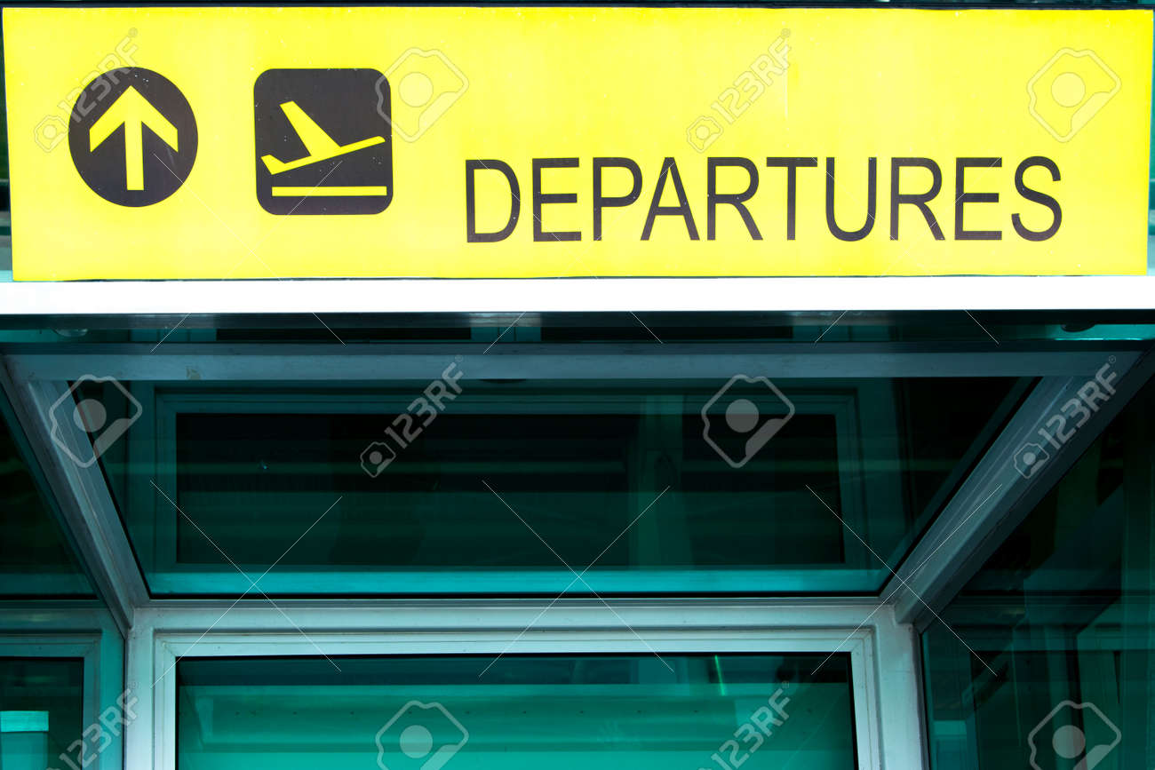 airport departure sign directional