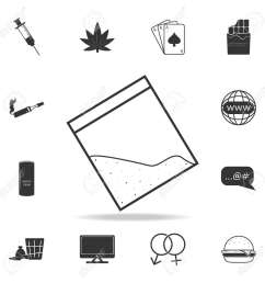 drug cocain in plastic bag with zipper iconset of human weakness and addiction element icon  [ 1300 x 1300 Pixel ]