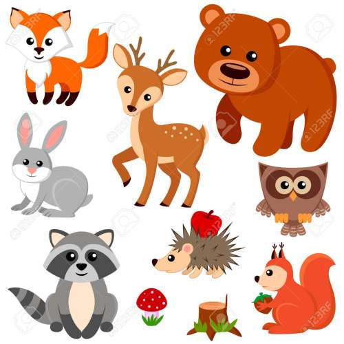 small resolution of forest animals illustration