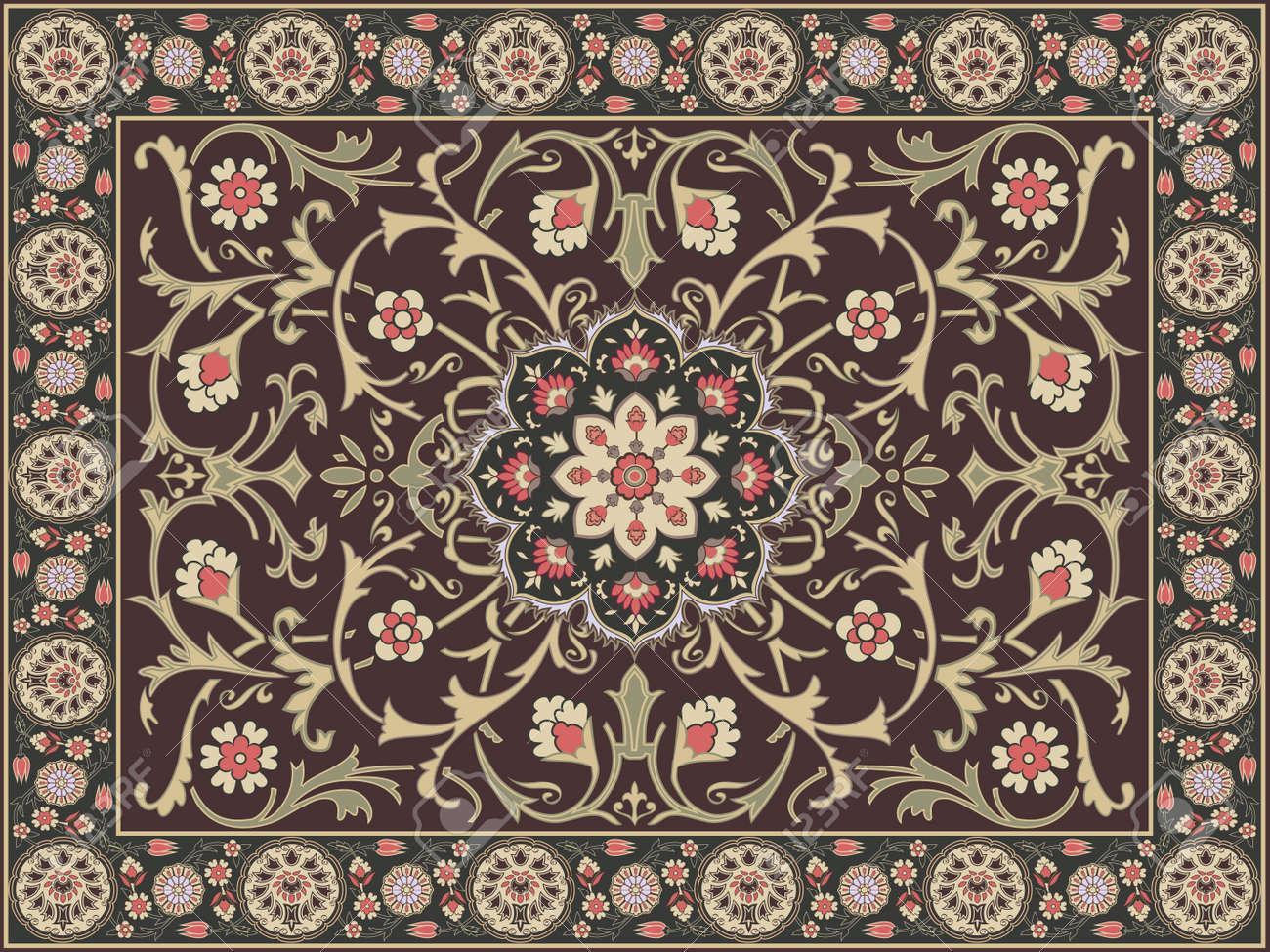 arabic style carpet design