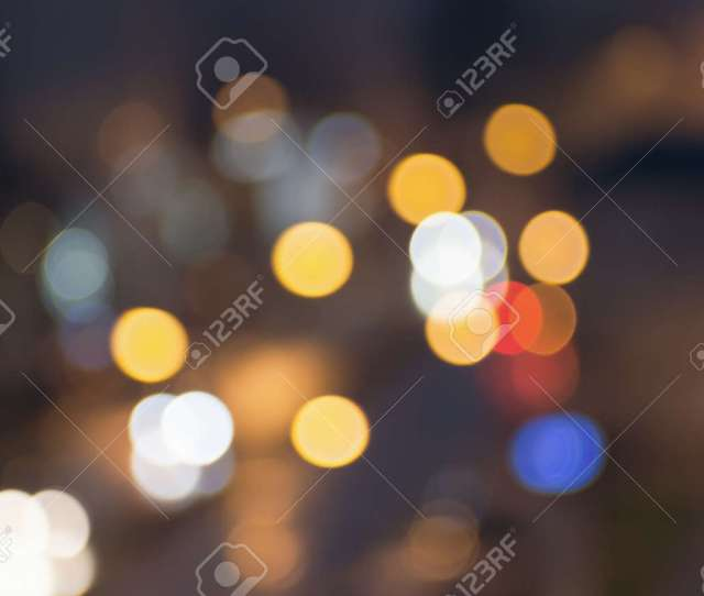 Abstract Blurred Night City Lights Blur Backgrounds Concept Blur Of Cityscape In Blue
