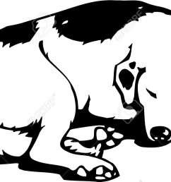 sleeping dog stock vector 12945153 [ 1300 x 774 Pixel ]