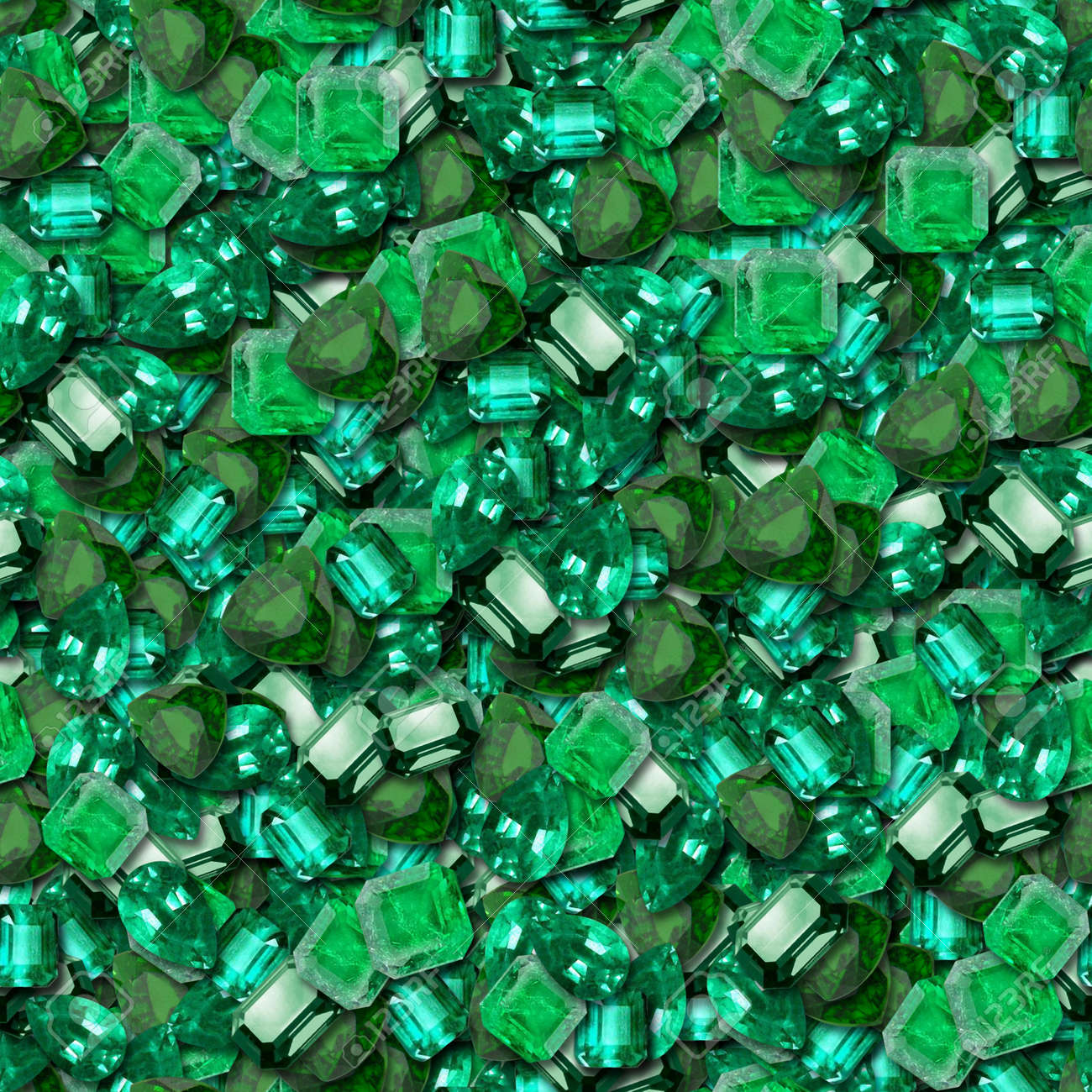 emeralds seamless texture tile