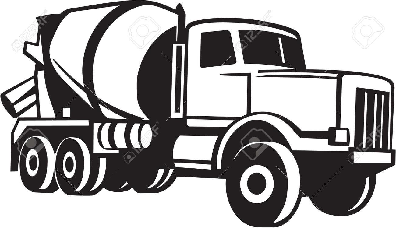 cement mixer truck vinyl