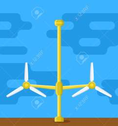 tidal power station flat style cartoon tidal tower station innovation clean power source  [ 1300 x 1029 Pixel ]
