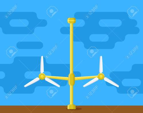 small resolution of tidal power station flat style cartoon tidal tower station innovation clean power source