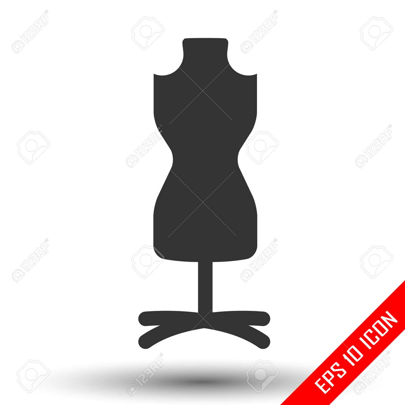 mannequin chair stand salon styling fashion female torso icon tailor dummy simple flat