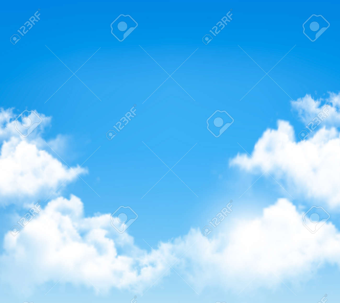 hight resolution of background with blue sky and clouds vector illustration