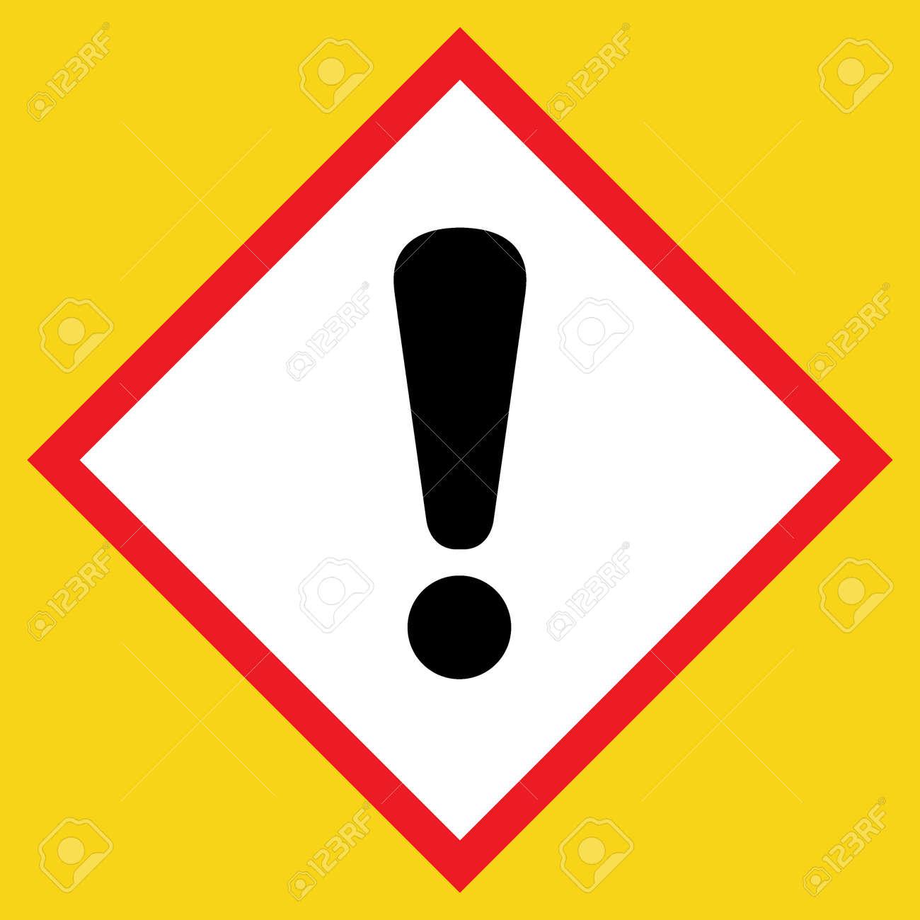 point de panneau noir exclamation hazard attention poste icone sur fond blanc dans un losange rouge isole sur un jaune symbole d avertissement