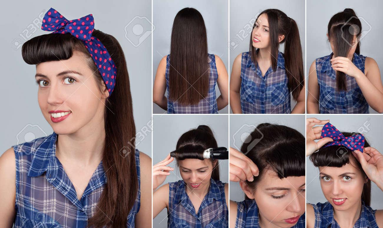 Einfache Schwanz Tutorial Frisur Pony Für Die Frau Frisur Für Lange