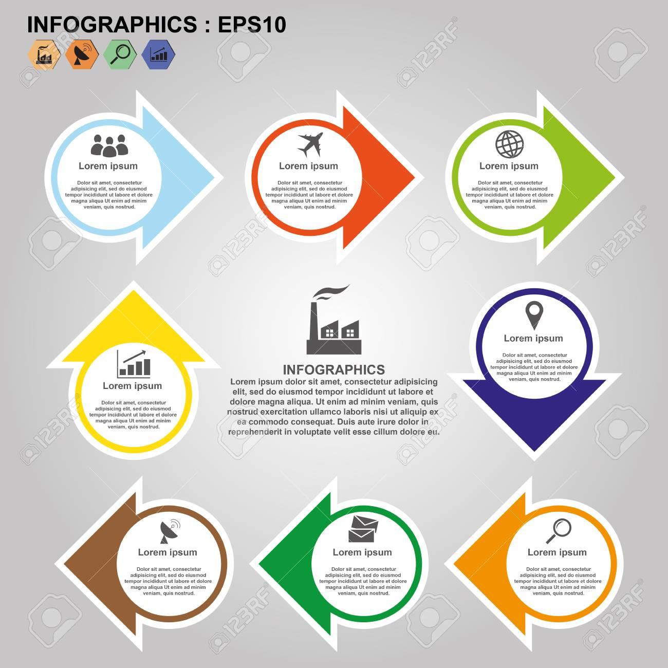 Timeline Infographics Flowchart Template, Process Step, Vector Illustration  Eps10. Stock Vector - 84931240