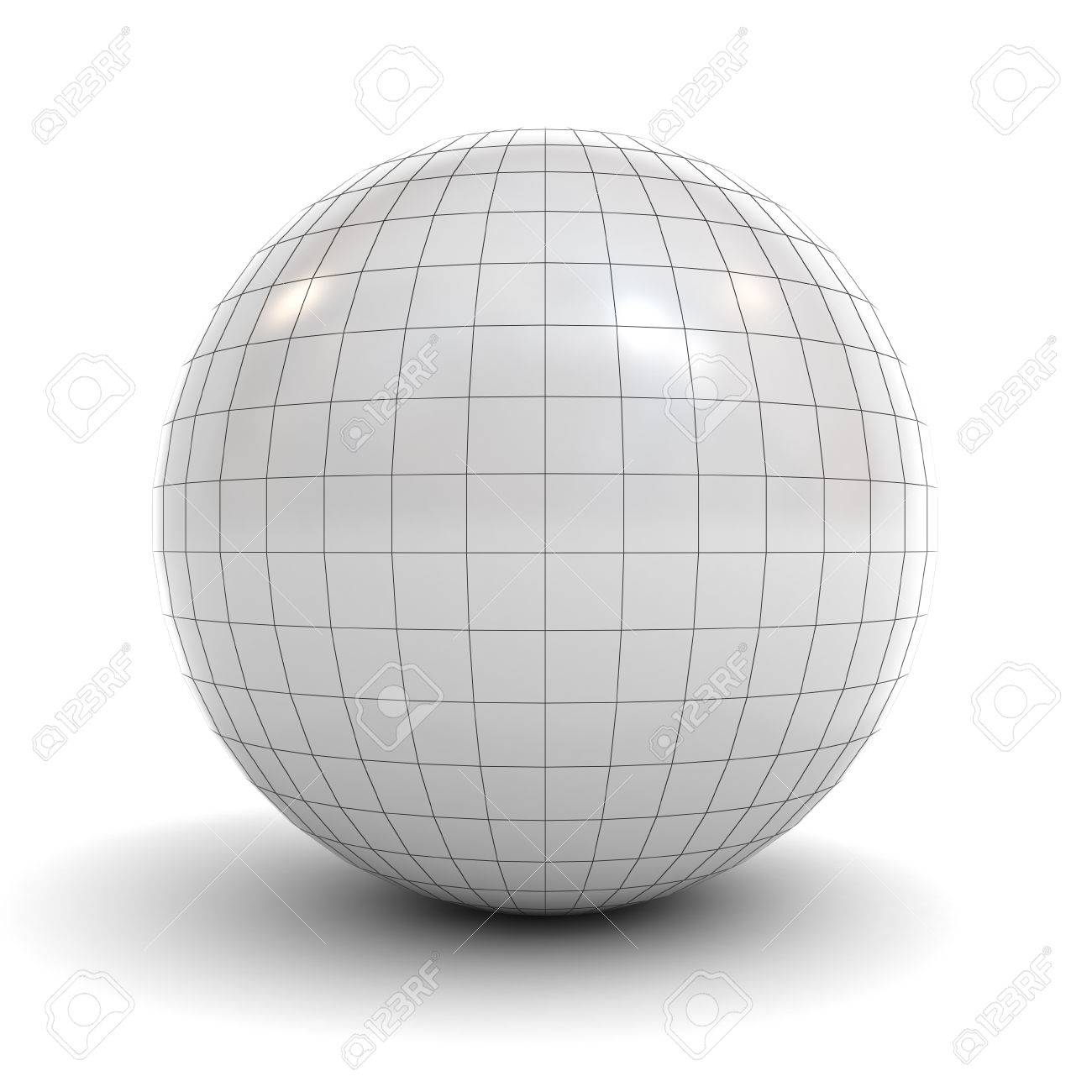 white sphere wireframe isolated