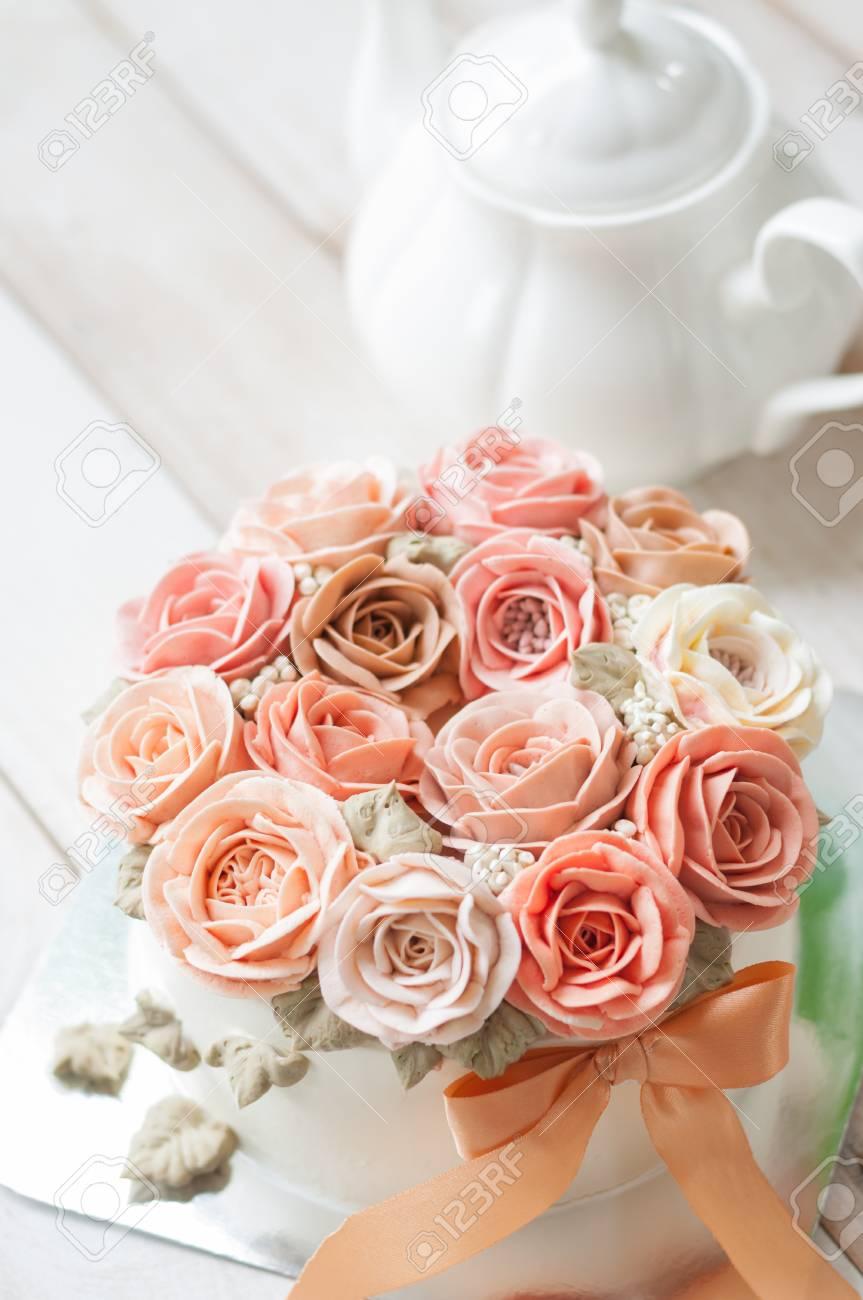 Happy Birthday Flower Cake Brithday Cake