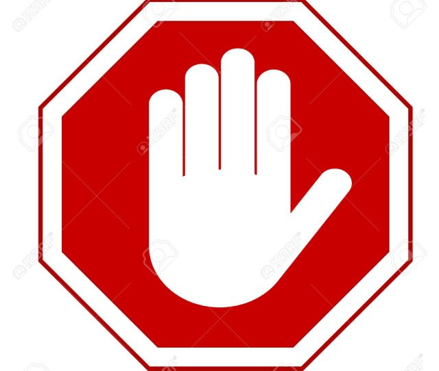 Stop Red Octagonal Stop Hand Sign For Prohibited Activities Vector Illustration You Can Simply