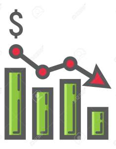 Declining graph filled outline icon business and finance chart sign vector graphics  also rh rf
