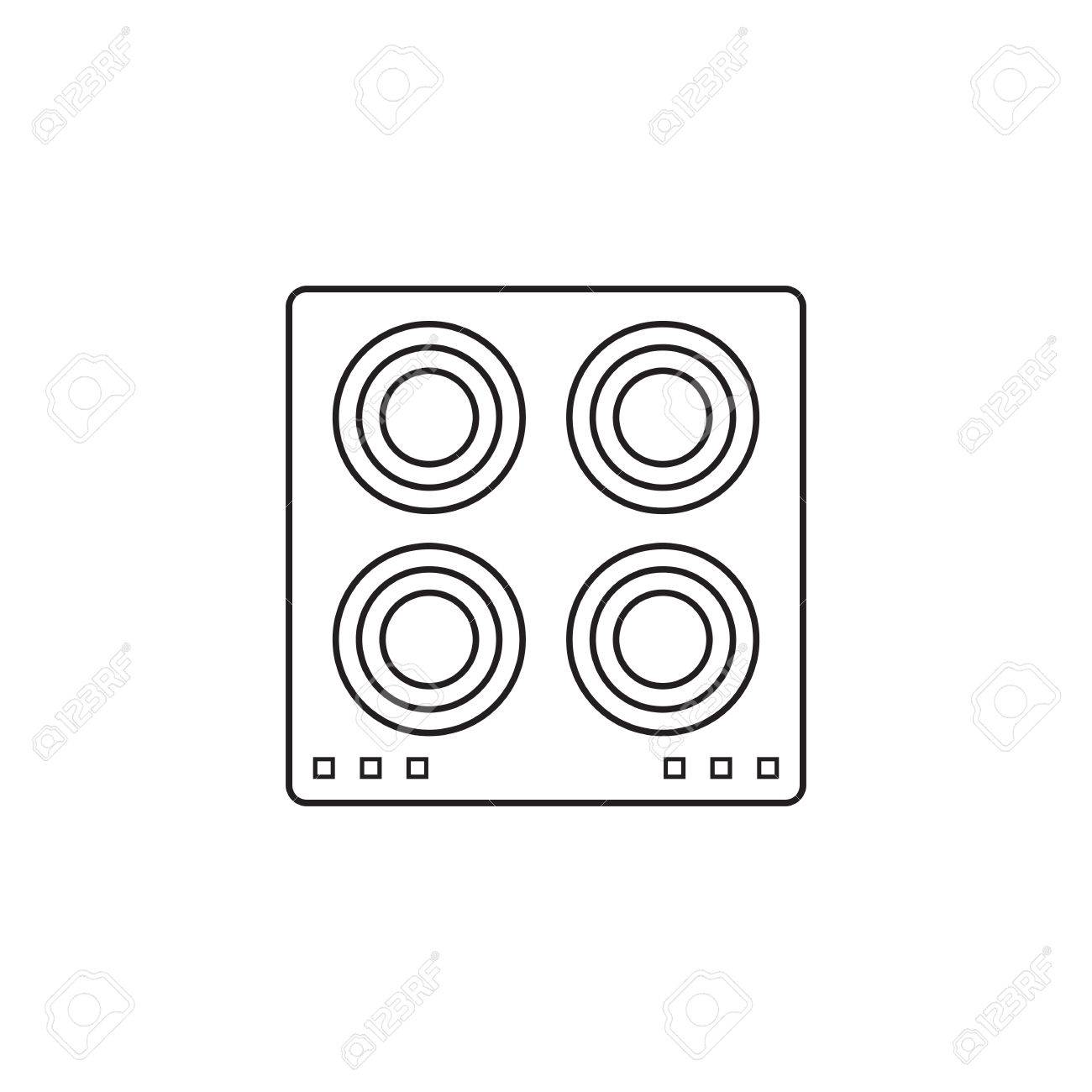icone plaque chauffante electrique panneau de cuisson