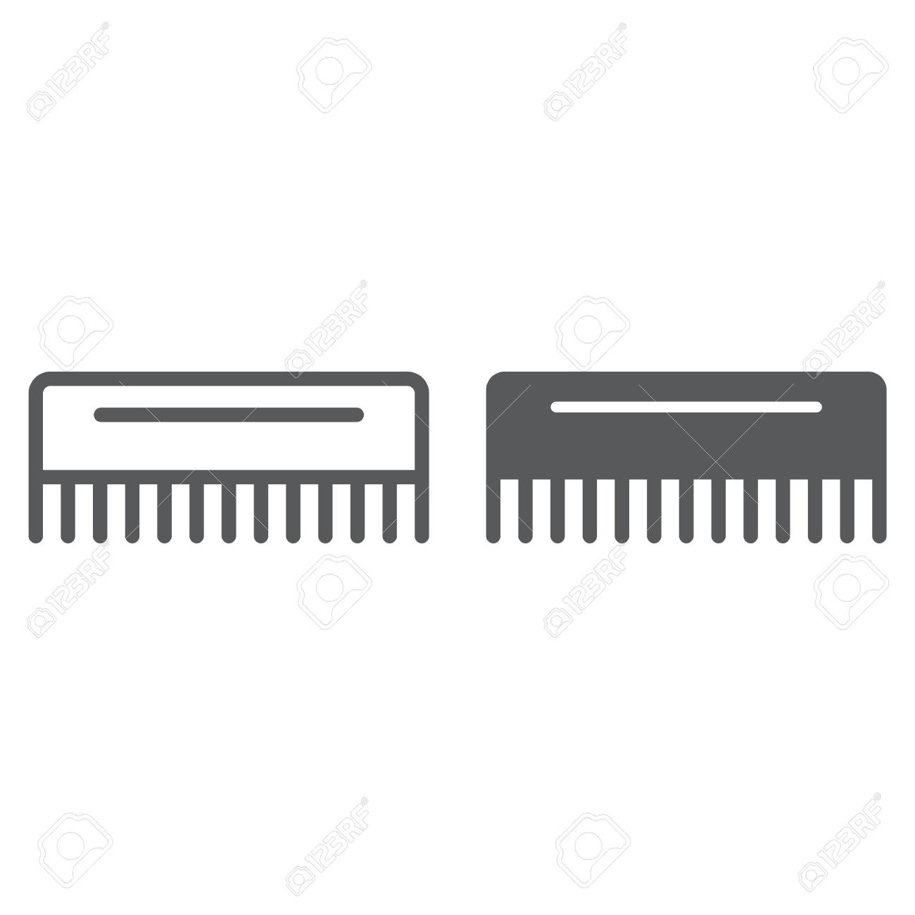 comb line and glyph