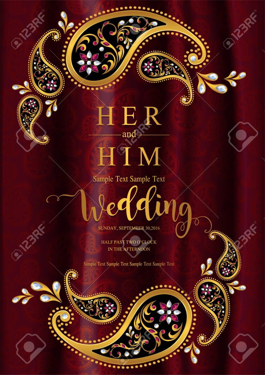 indian wedding invite template blank