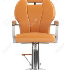 Orange Chair Salon Adirondak Kit Hairdressing Isolated On White Background Stock Photo 11977291