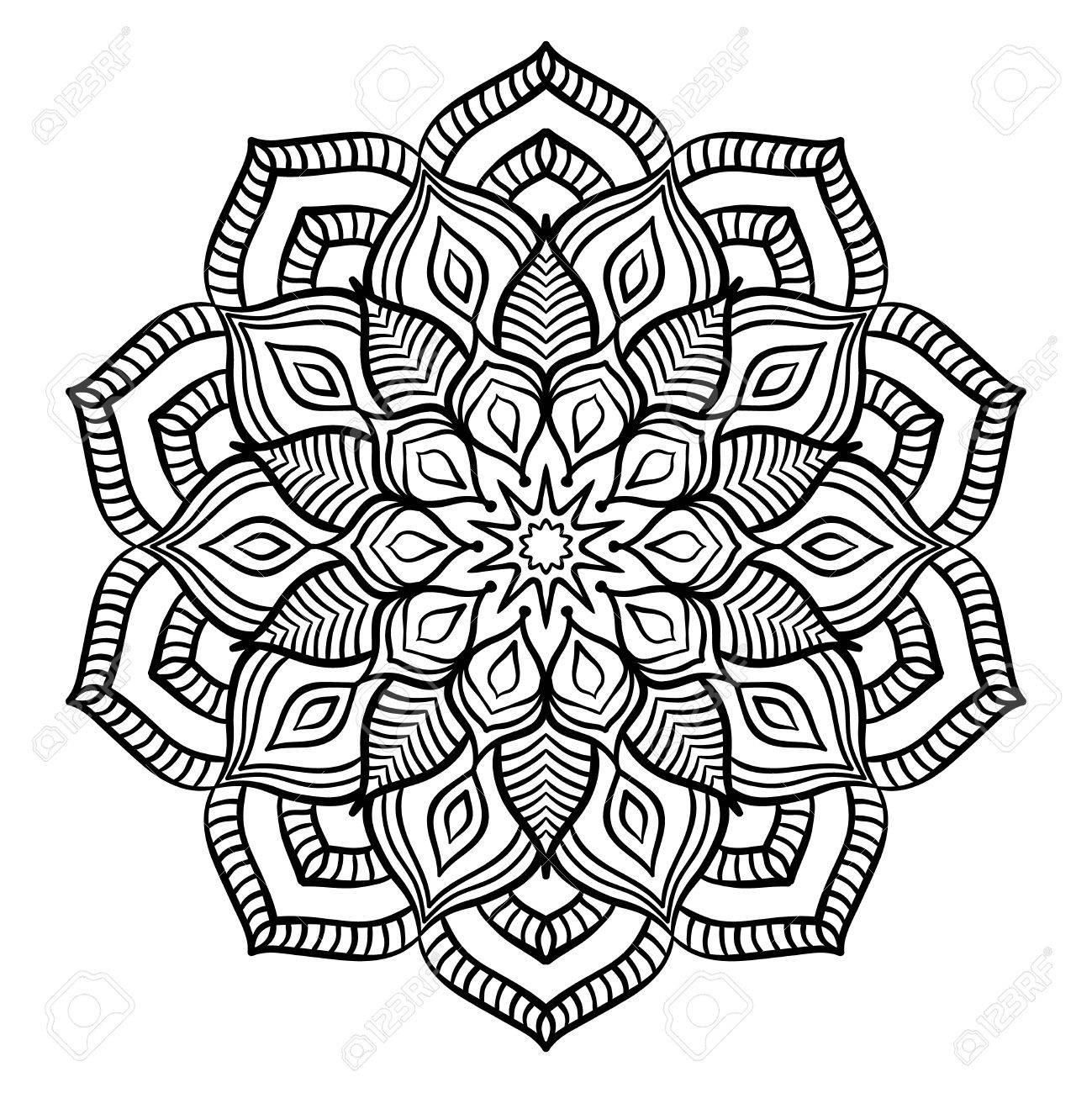 black mandala for coloring