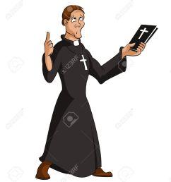 image of funny cartoon smart priest [ 1145 x 1300 Pixel ]