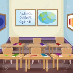Illustration Of An Empty Classroom Royalty Free Cliparts Vectors And Stock Illustration Image 41929188