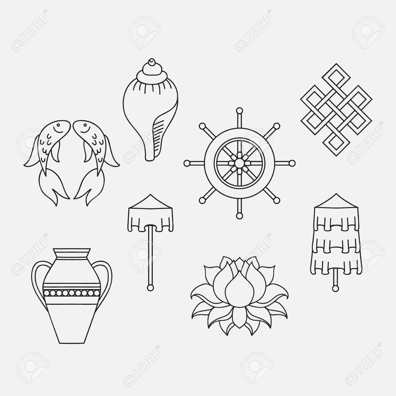 Buddhist symbolism the 8 auspicious symbols of buddhism right coiled white conch