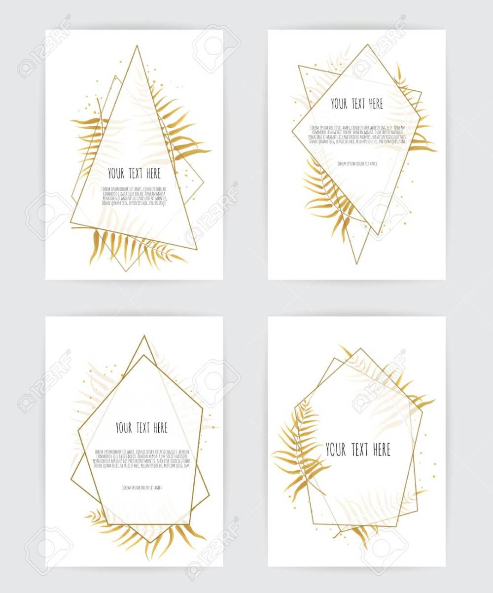 medium resolution of set of card with flower rose leaves and geometrical frame wedding ornament concept