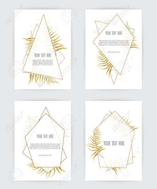 small resolution of set of card with flower rose leaves and geometrical frame wedding ornament concept