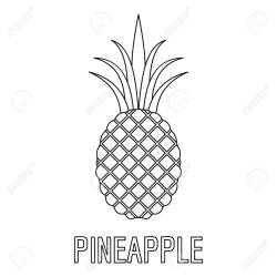 Pineapple Icon Outline Illustration Of Pineapple Vector Icon Royalty Free Cliparts Vectors And Stock Illustration Image 92631300