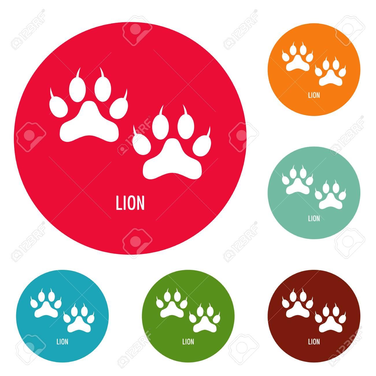 lion paw print icons