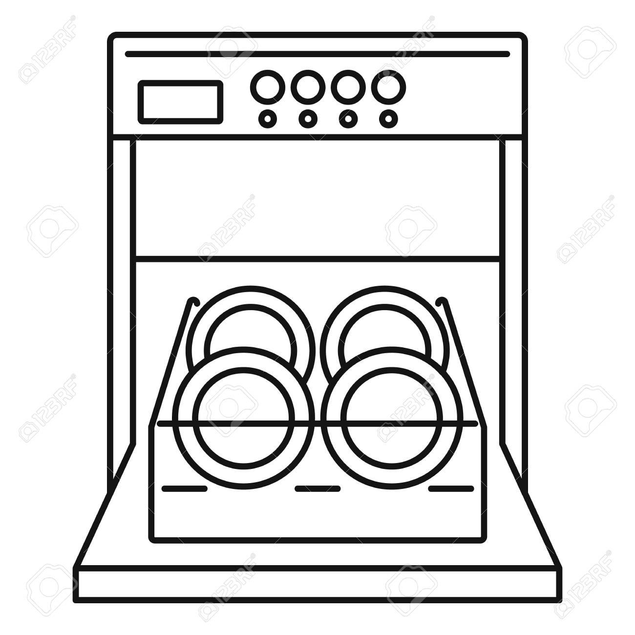 open dishwasher icon