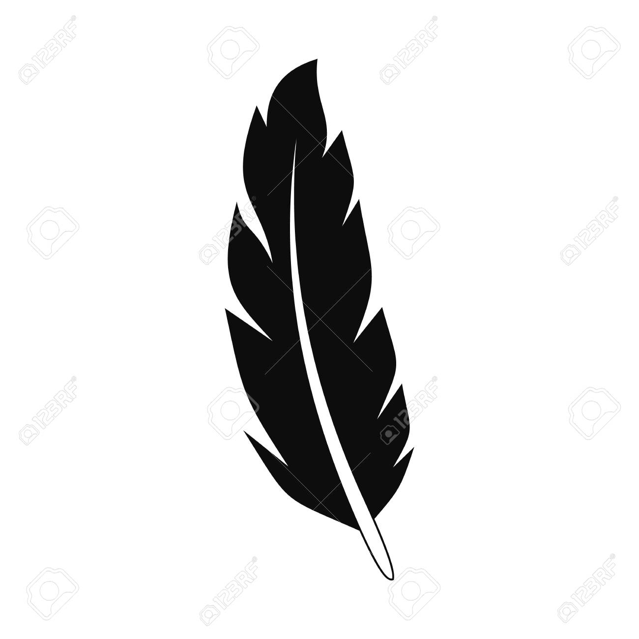 peacock feather icon simple