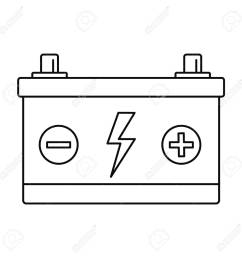 car battery icon outline style stock vector 109414252 [ 1300 x 1300 Pixel ]