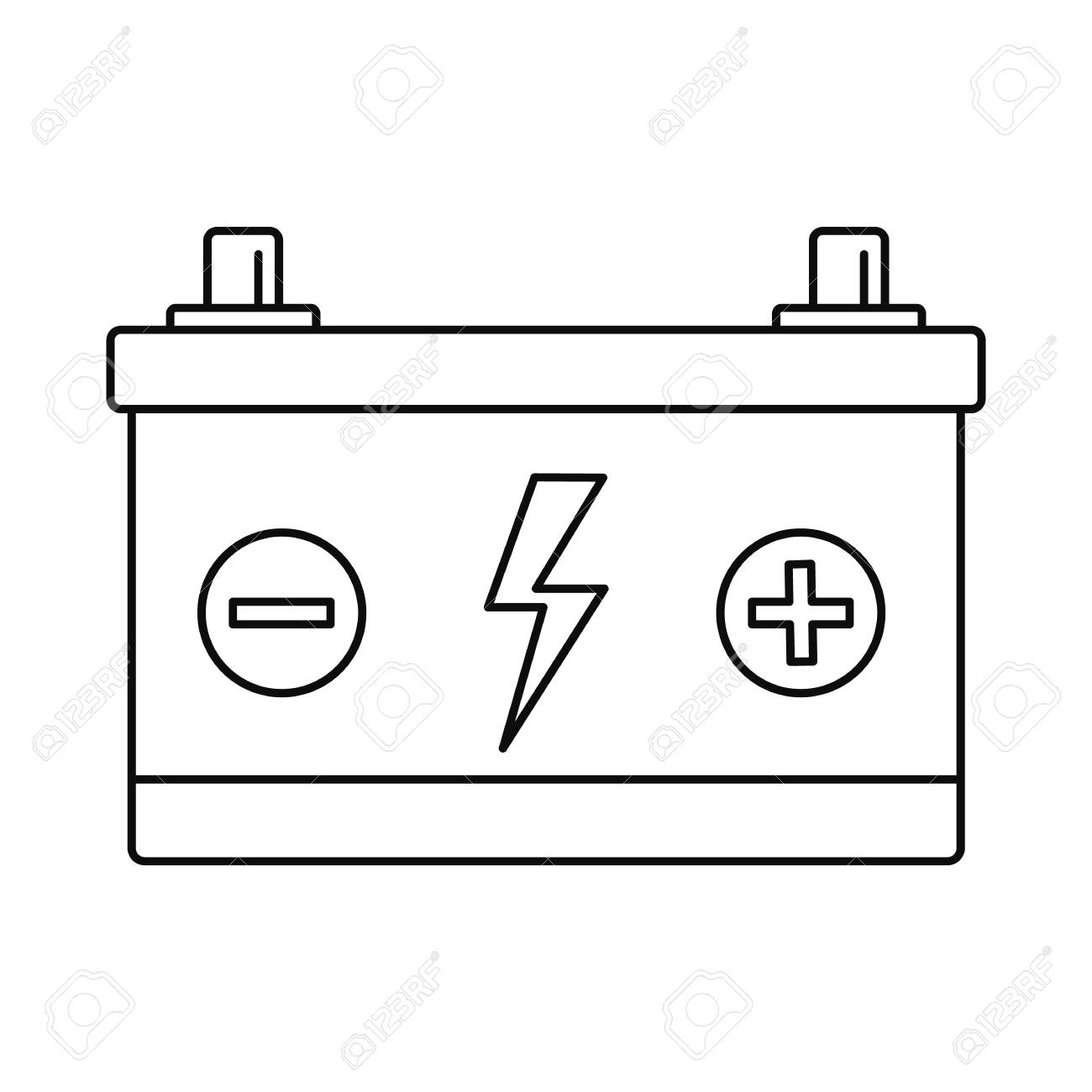 hight resolution of car battery icon outline style stock vector 109414252