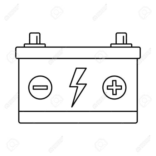 small resolution of car battery icon outline style stock vector 109414252