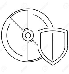 secured cd disk icon outline style stock photo 111468783 [ 1300 x 1300 Pixel ]