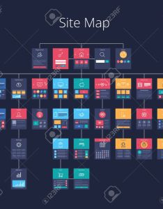 Concept of website flowchart sitemap pixel perfect layered vector illustration stock also rh rf