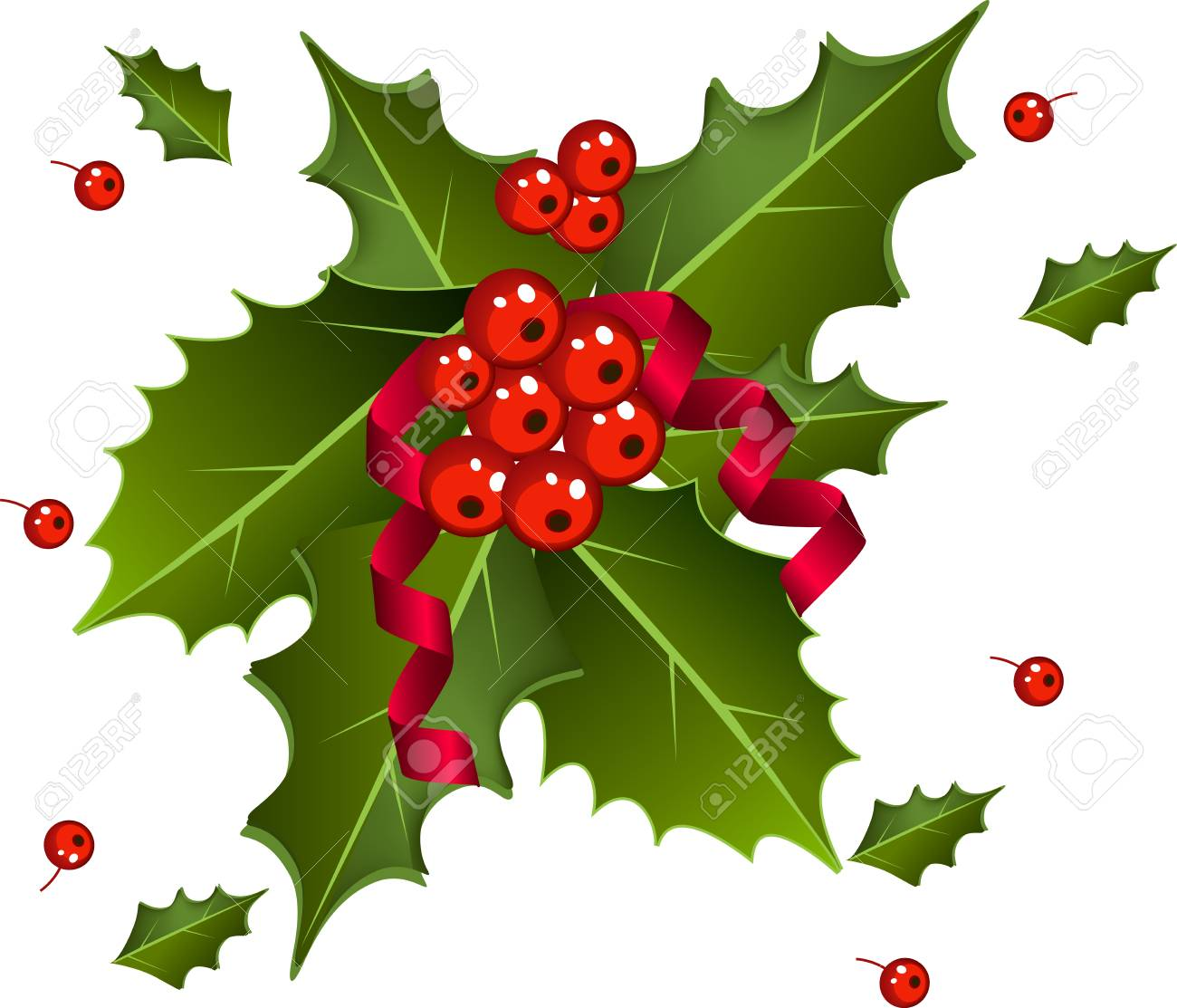 christmas berries with red