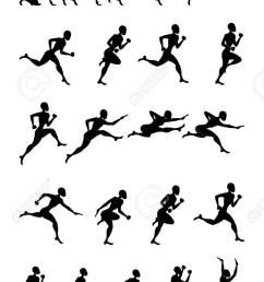 sport black silhouette light athletics running people white background stock vector 60623056 [ 824 x 1300 Pixel ]