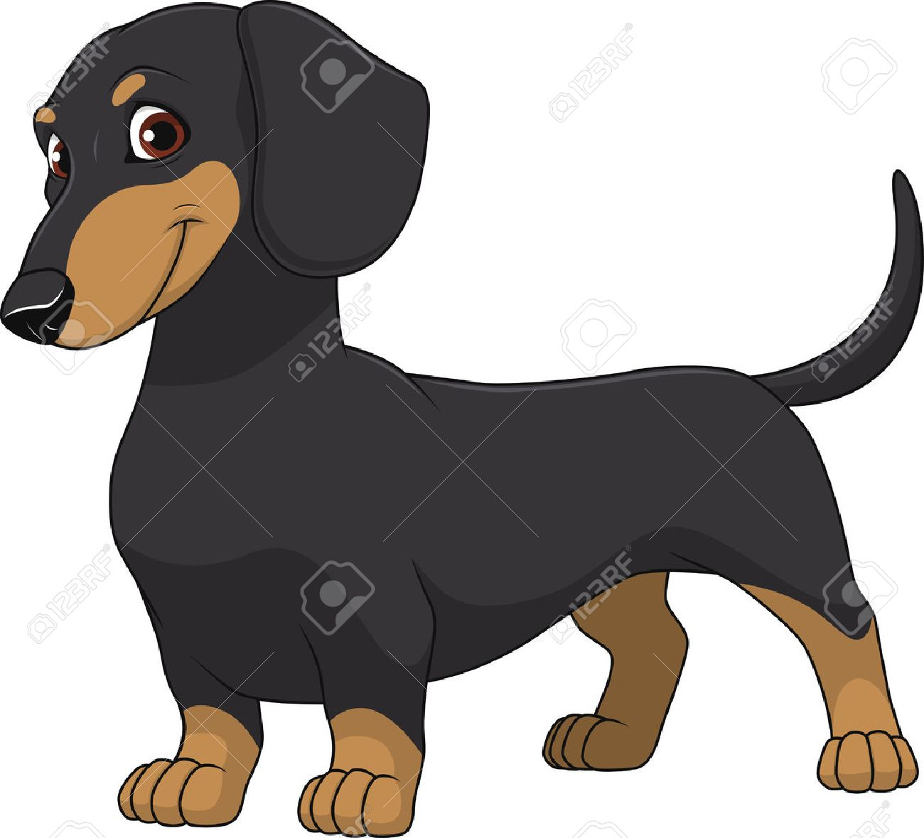 hight resolution of illustration funny dog thoroughbred on a white background