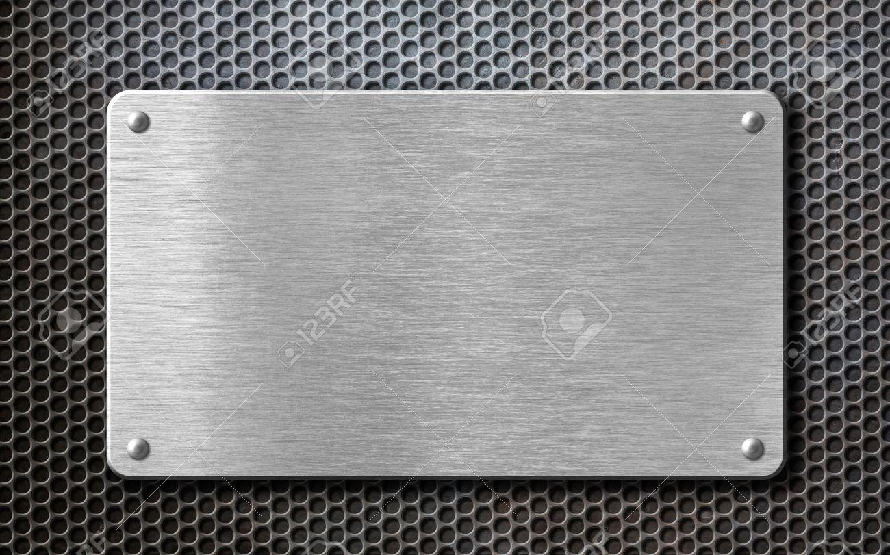 brushed steel metal plate