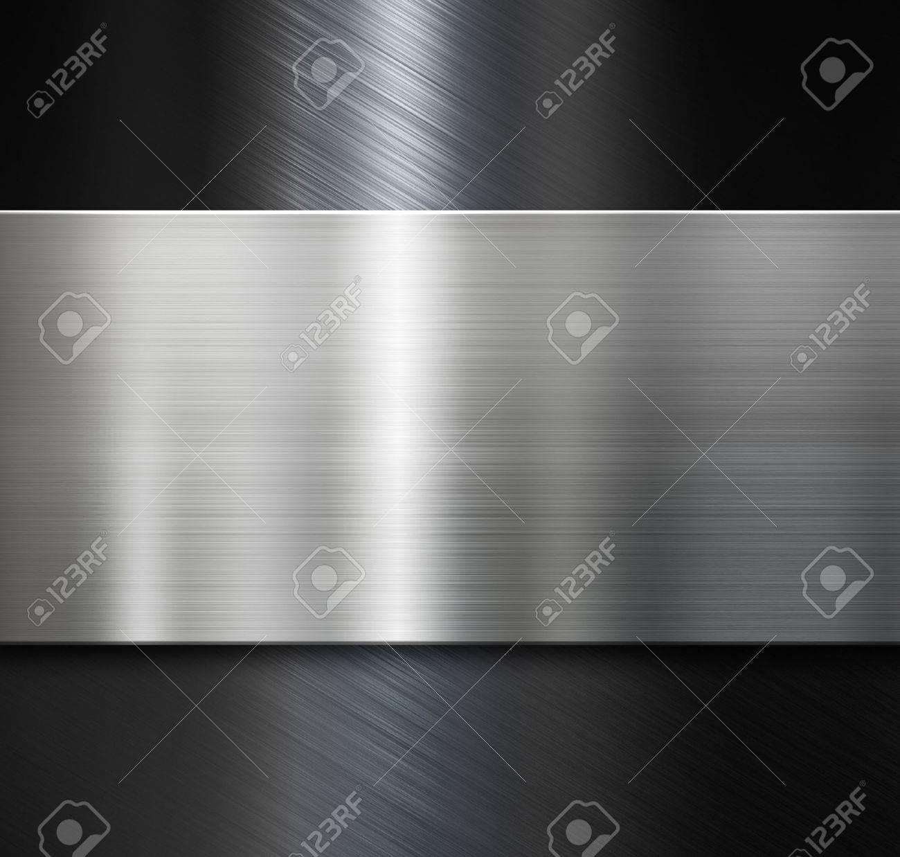 metal plate over black