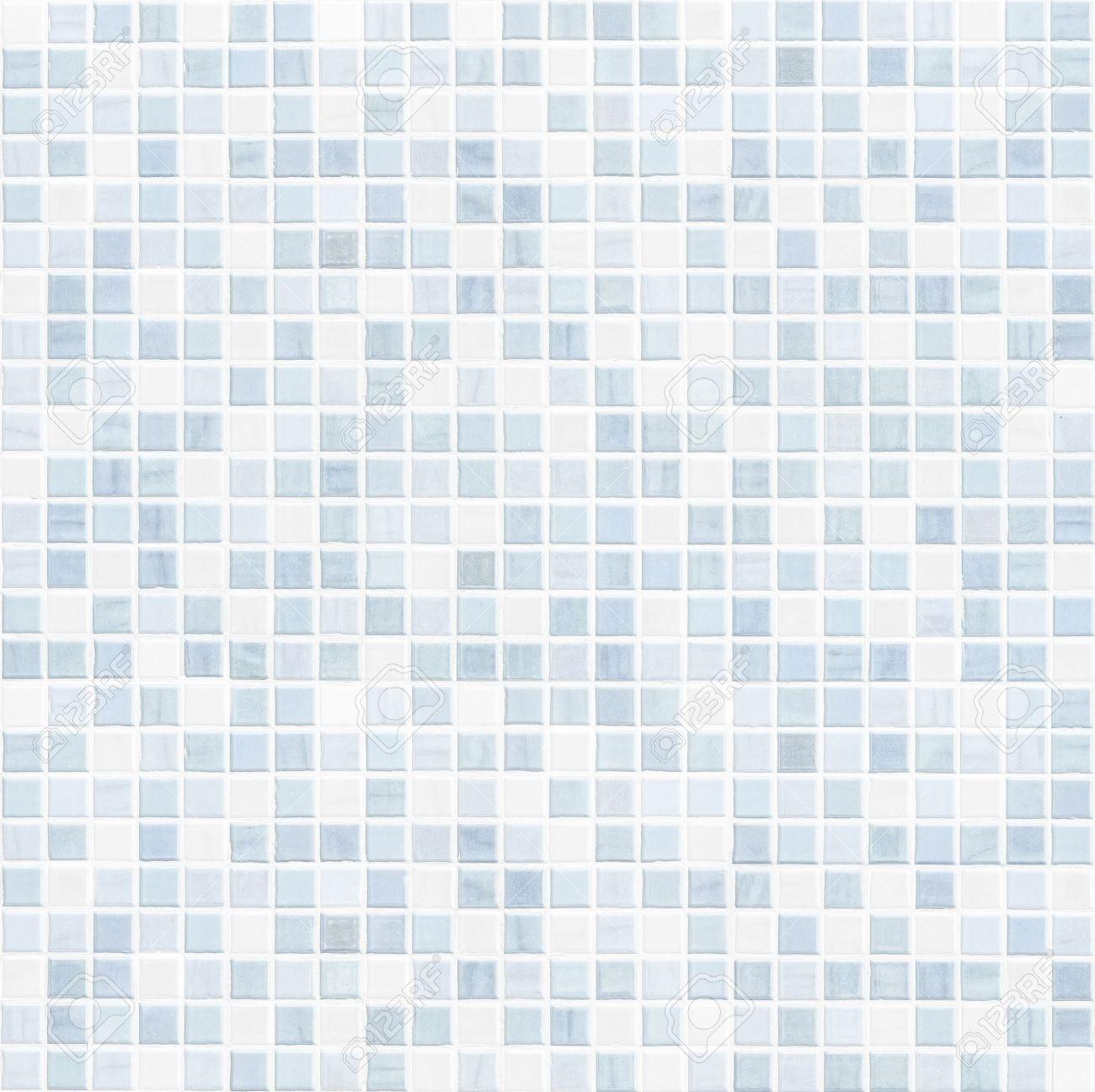 blue tile wall high